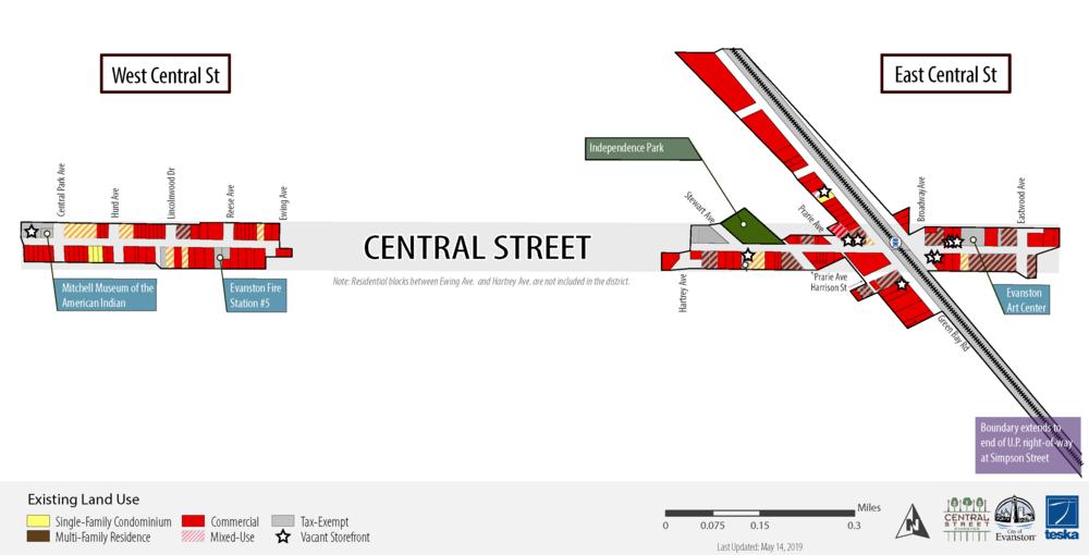 Central Street Evanston - SSA Boundary Map