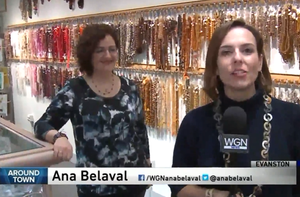 WGN Around Town Features 4 Downtown Evanston Shops!