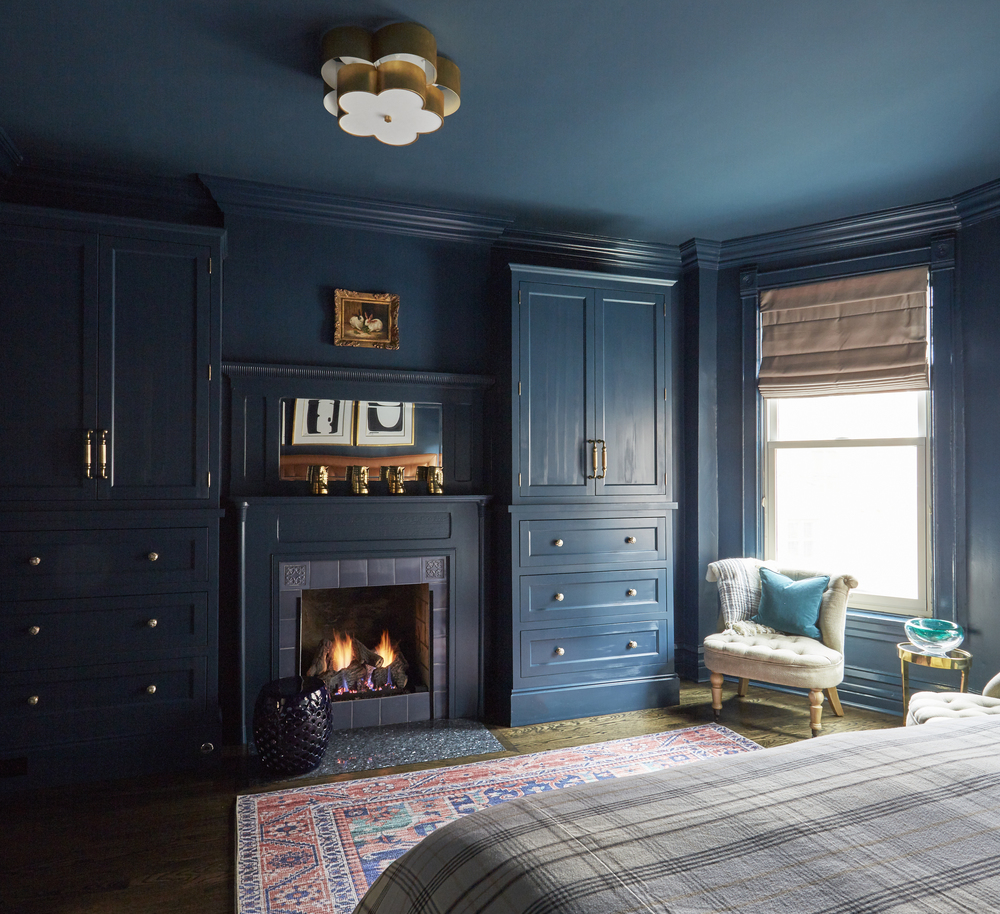 Bold and Blue Bedroom
