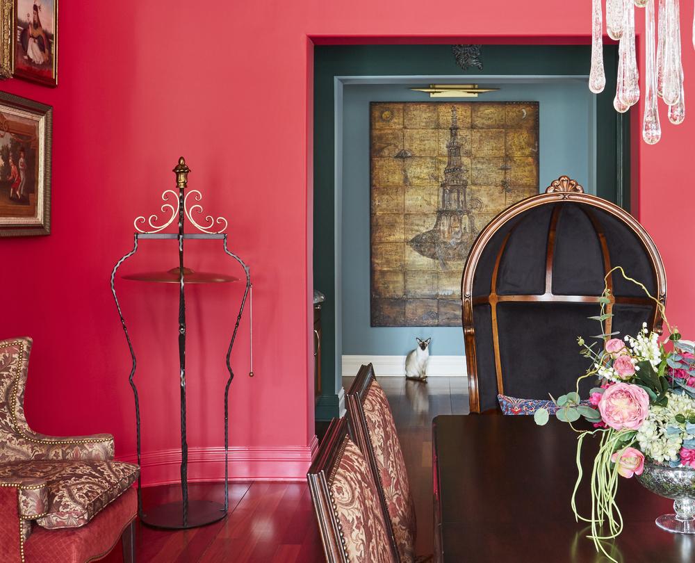 Bold Victorian Dining Room
