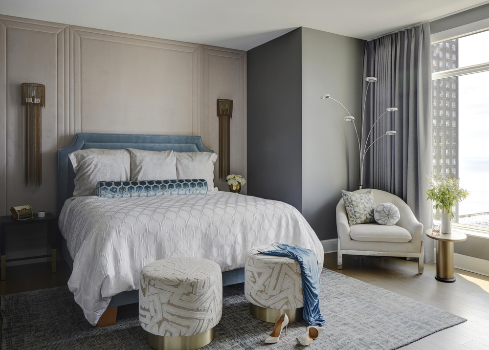 Soft and Sophisticated Primary Bedroom
