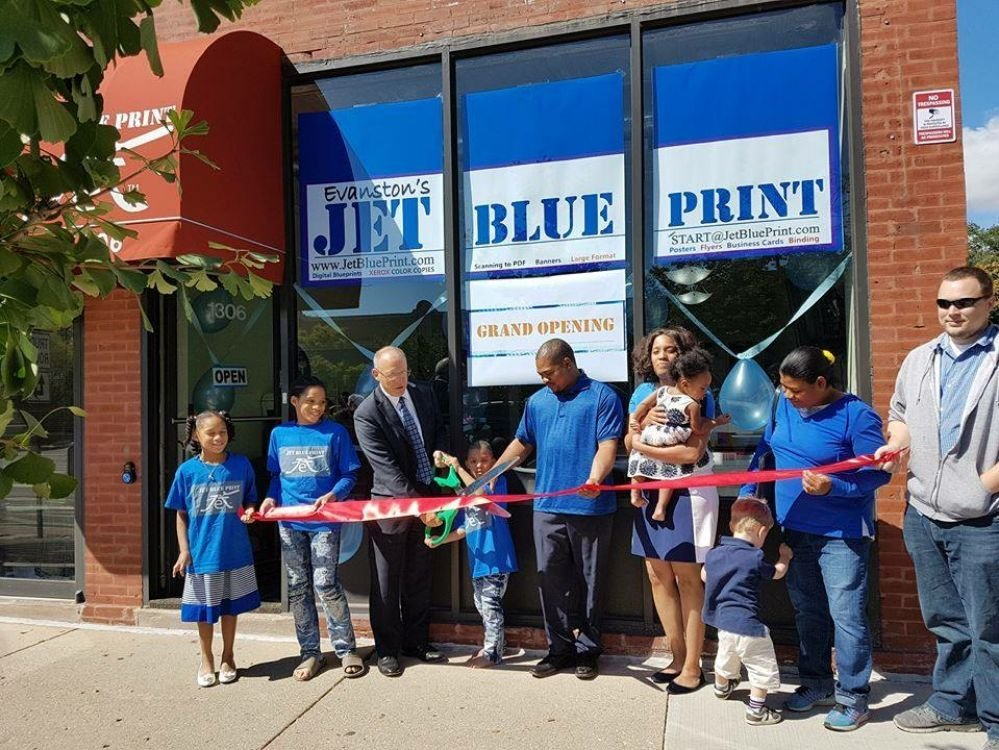 Jet Blue Print