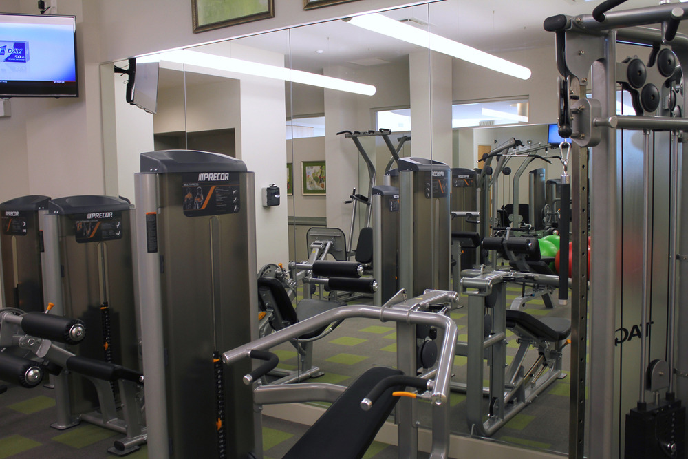 The largest, best equipped fitness center of any luxury residence in Evanston.