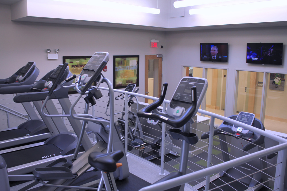 Treadmill and elliptical studio.