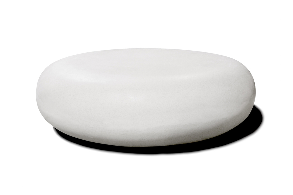 Delicieux PEBBLE TABLE   WHITE