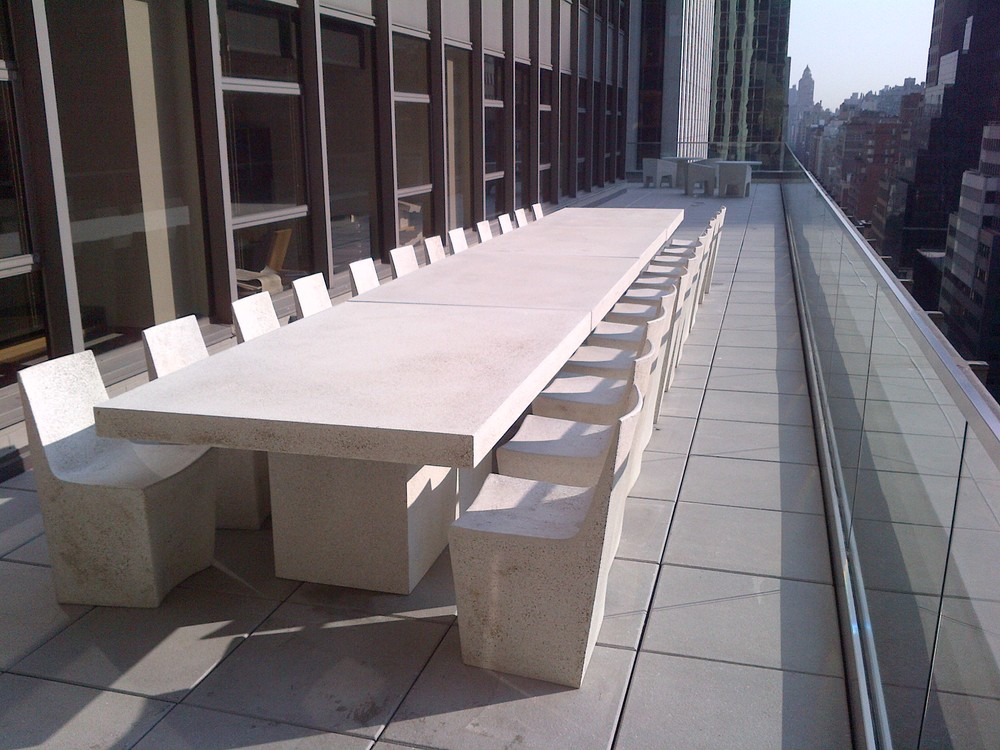 Lightweight Concrete Table, Lightweight Concrete Chairs, Outdoor Modern Furniture