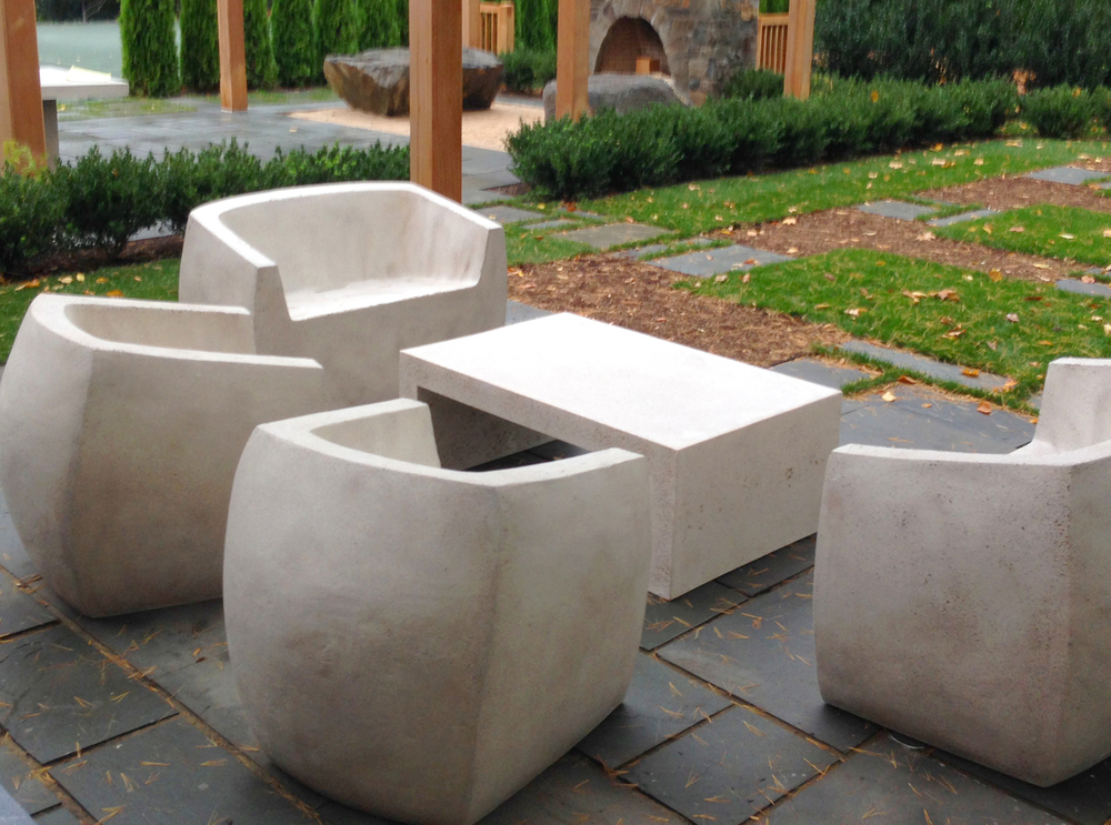Van Dyke, Long Island, Lightweight Concrete, Lightweight Furniture, Lightweight outdoor chair, outdoor furniture, luxury outdoor, concrete chair, concrete furniture