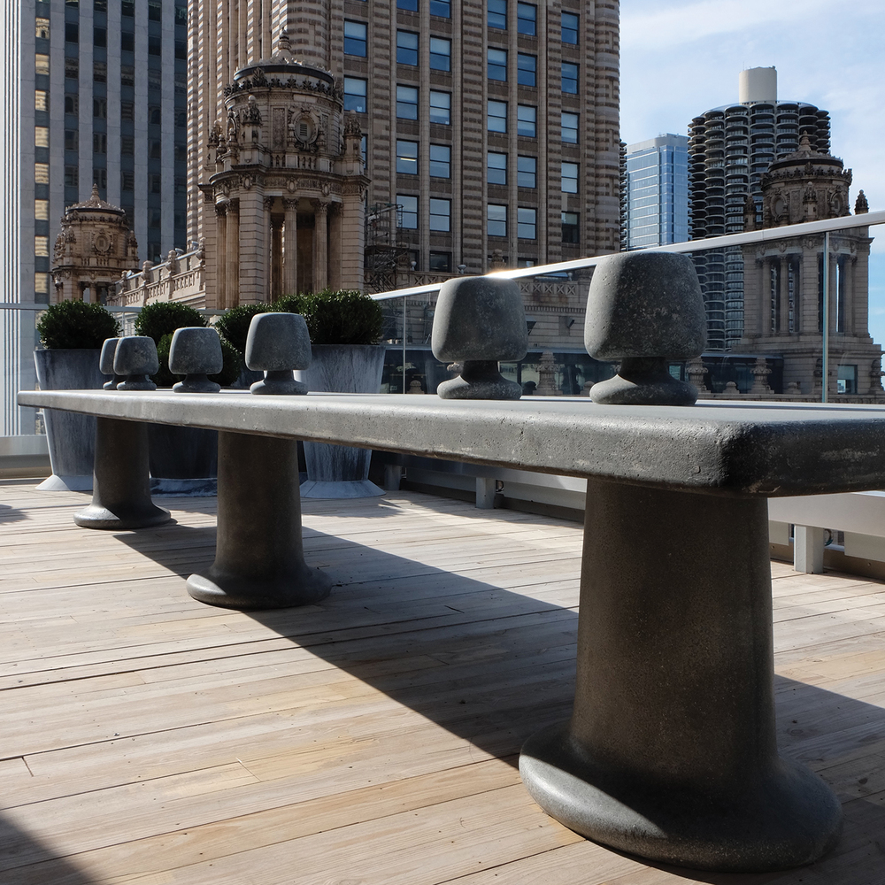 Virgin Hotels Chicago Rooftop Table