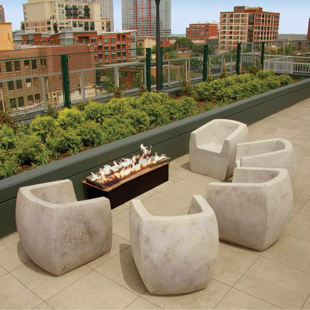 Lex Apartments Chicago Unexpectedly Light Concrete Outdoor Furniture Zachary A Design