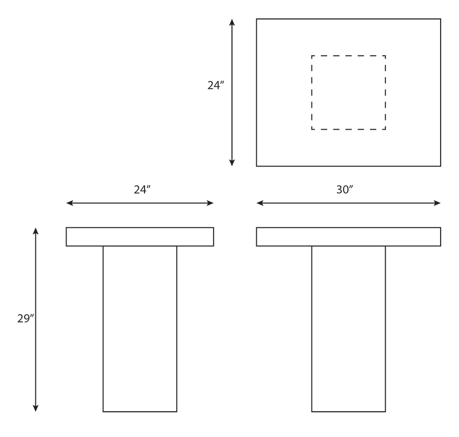 SLAB PEDESTAL TABLE