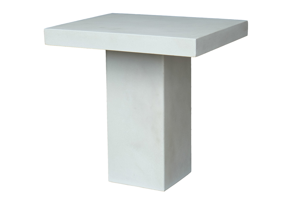 SLAB PEDESTAL TABLE